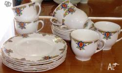 Teaset setting for 6 persons approx 50 years old