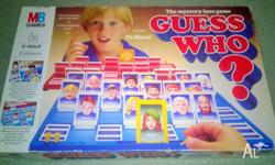 Guess Who Board Game - Milton Bradley 1987 - Complete