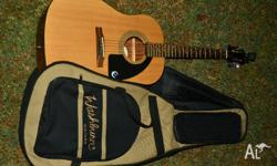 Epiphone Acoustic Guitar With Tuner and Washburn Bag
