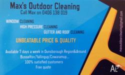 - Gutter cleaning - Roof cleaning - High pressure
