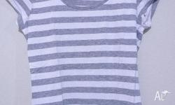 STRIPE T-SHIRT FROM H&M. WRON ONCE ONLY! STILL IN VERY