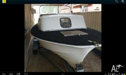 Haines hunter 1972, fibreglass, 17 foot, half cabin, 6