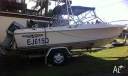 Haines Hunter V17 R. 120 HP VRO Eninrude. Boat and