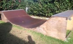 Skateboard Half Pipe with Skatelite. 12 months old. 6m