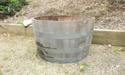 Half wine barrel, excellent condition, holds water all
