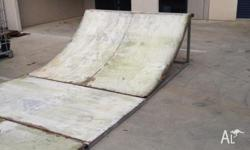 I have a 4750x2100x860 halfpipe. The frame is made out