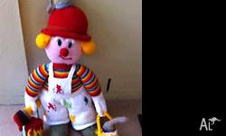 Hand Knitted Painter Doll - Height 60cm. � Comes from a