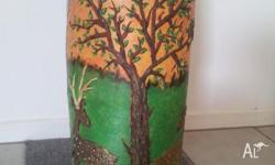 i m offering hand painted pot for sale .it is new and