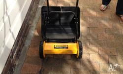 nearly new hand push mower 12 months old good for small