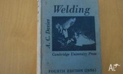 Cambridge university 1956 (4th edition )welding