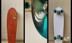 Hand-shaped skateboards by Worthy Skateboards are