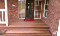 - decking - shed - door installation - bathroom and