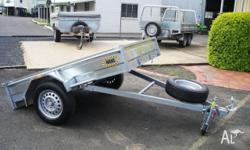 HANS - 7x5 Std- Tilt Box Trailer + Jockey & Spare