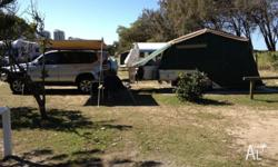 Off road trailer built on Dingo Trailer chassis. A
