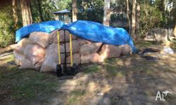 We have large plastic bags of HARDWOOD AND SOME PINE