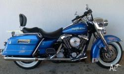 HARLEY-DAVIDSON,FLHRI ROAD KING,1997, Blue, CRUISER,