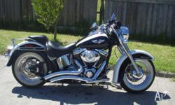 harley davidson softtail deluxe,western bars,custom