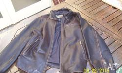 Harley Davidson brown soft leather jacket in new