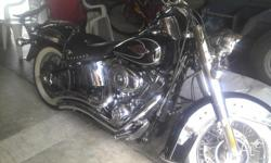 Harley softail vance and hines big radius pipes off