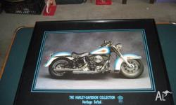 HARLY DAVIDSON PICTURE AND FRAME SALE AS IS 51CM X 41CM