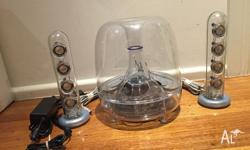 Up for auction is Harman Kardon SoundSticks II in good