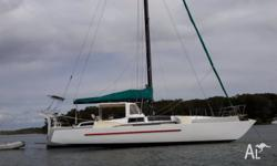 Trimaran 12.8 mt 42 ft foam core fiberglass,51 ft alloy