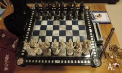 Complete D'Agostini partwork Harry Potter chess set.