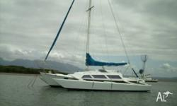Hartley Sparkle Trimaran, 30ft, Inboard diesel, Suit