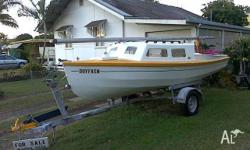 Hartley 16FT f�glass yacht, registered trailersailer,