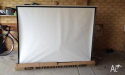 "HD Advanced 3D Projector Screen 100"". Left here by a"