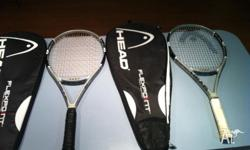 I have for sale 2 x Head Flexpoint 6 tennis raquets in