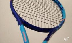 grip: 1/4 nice looking racket never used due to it