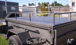 Heavy-Duty Trailers 7 x 4 Camper Trailer with
