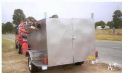 Heavy-Duty Trailers Lawn Mower Trailer, 2010, Charcoal,
