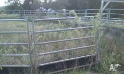 32 heavy duty Cattle Panels for sale, and four Gates. I