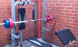 INCLUDING 80kg WEIGHTS. Heavy Duty all in one Multi
