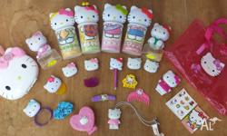 Hello Kitty collection as pictured, including four