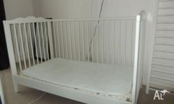 We are selling our cot complete with mattress will
