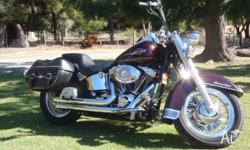 2006 Heritage Softail .Cherry Black in Colour, Fuel