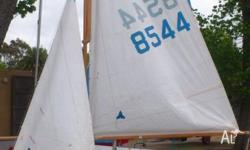 Delightful Heron classic sailing boat. Comes with