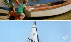 Approx built late 60`s heron timber sail boat. Was in