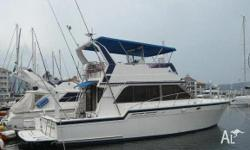 1992 Cabin Cruiser with twin 3208 Cat diesels,