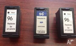 Replacement HP96 black ink printer cartridges suitable