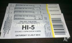 Selling 4 x Hi 5 tickets for their 3rd Melbourne