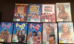 High school musical 1,2 & 3 plus H2o 4,5 & 6 from first