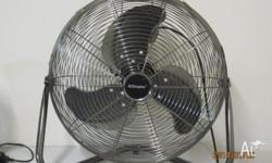 A high speed electric fan is available for immediate