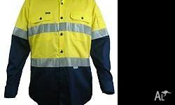 Two tone cool gear high visibility safety long sleeve