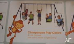 Hills Chimpanzee Swing Set complete with slide these