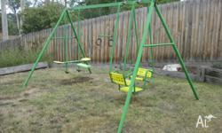 Available for sale is our Hills Playtime Swing Set that