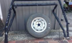 heavey duty carry bars suit 90,s model dual cab hilux,